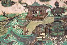 唐代敦煌莫高窟壁畫--樓榭