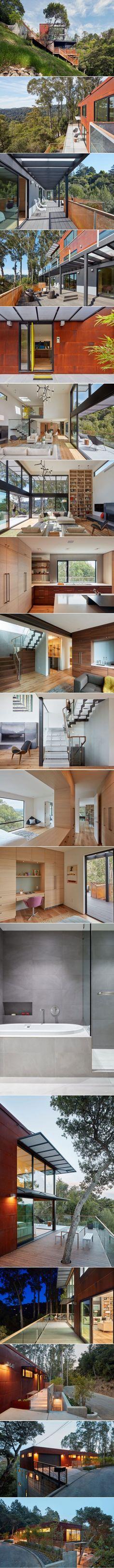 Zack de Vito Architecture + Construction Designs a Hillside House in the Mill Valley