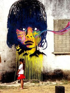 Mural by Stinkfish in Guatemala City