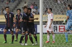 SEOUL, SOUTH KOREA - JULY 21: Yuzo Kurihara celebrates after scoring during the EAFF East Asian Cup match between Japan and China at Seoul World Cup Stadium on July 21, 2013 in Seoul, South Korea.  www3.daylife.com/photo/00gM0Kj5vA69l