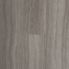 STAINMASTER 6-in x 24-in Groutable Light Gray Peel-And-Stick Travertine Luxury Vinyl Tile