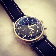 The classic @sinnfrankfurt 356 flieger chronograph #watches #womw