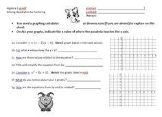 Solving Quadratics by Factoring - from Math Teacher Mambo
