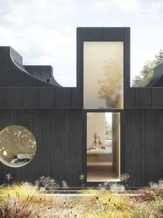 "WOJR envisions highly sculptural ""House of Horns"" for Northern California Haus der Hörner von WOJR Architecture Awards, Residential Architecture, Contemporary Architecture, Art And Architecture, Roof Shapes, Northern California, Black House, Landscape Design, House Design"