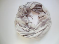 Hand-dyed, Up-cycled Light Lavender and Gray Pashmina Scarf Shawl Wrap