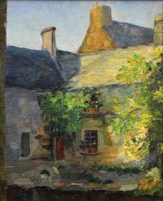 Abel Warshawsky, French Courtyard