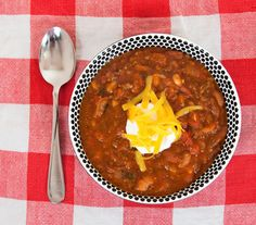 Chili made with dried beans