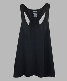 Another great find on #zulily! Black Flare Tank - Plus Too #zulilyfinds