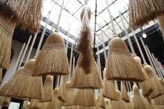 Broom installation; Merci Shop in Paris, France, Remodelista