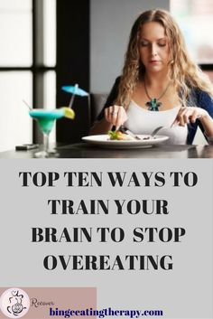 Here are some of the best ways to actually retrain your brain to stop overeating. you don't need willpower, you need tools and a little understanding of how your brain works and why it chooses to overeat. Binge Eating, Stop Eating, How To Eat Less, How To Better Yourself, Stop Overeating, Overeating Disorder, Stress Eating, Train Your Brain, Wellness