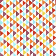 Cretonne stof met geometrische design