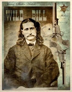 Old West Art Print, Wild Bill Hickok Dead Mans Hand.   By TigerHouseArt