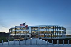 Using a Design-Build delivery model to get ARRA funds committed as quickly as possible and to get people back to work, the Design-Build team developed a highly productive and sustainable district headquarters for the U.S. Army Corps of Engineers. The