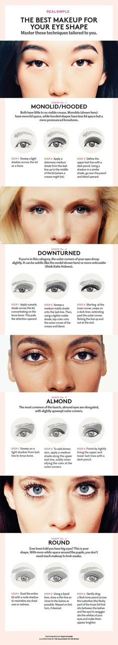 Eye Makeup Tips and Advice Eyes occupy the most prominent place among the five sensory organs of our body. Large and beautiful eyes enhance one's beauty manifold. Healthy eyes are directly related to general health. Use eye-make up v Make Up Geek, Eye Make Up, Eye Makeup Tips, Skin Makeup, Makeup Brushes, Makeup Tricks, Clean Makeup, Eyeshadow Brushes, Younique Eyeshadow