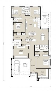Banksia Premium - Switch Homes Best House Plans, Dream House Plans, Modern House Plans, Modern House Design, House Floor Plans, Building Plans, Building A House, Home Design Floor Plans, House Blueprints