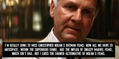 That is true. The marvel films are fine but Nolan's world was always more complex.