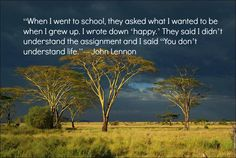John Lennon quote.