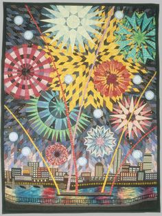 Pyrotechnics the Fourth Quilt by Carol Anne Grotrian