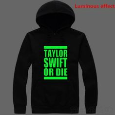 Taylor Swift luminous hooded sweatshirts for men