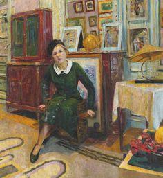 Édouard Vuillard - La Comtesse Lanskoy, 1934 Oil on canvas 34 1/2 by 31 5/8 in. 87.7 by 80.5 cm.