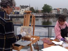 The Springfield Museums Travel Program is spending the week barging in Holland. In addition to sight-seeing, the group is plein air painting with artist Doug Gillette.