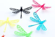 Multicolored  Dragonfly Wall Art  Dragonfly Wall by MyDreamDecors