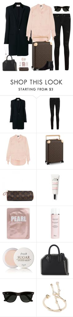 """""""Untitled #3026"""" by briarachele ❤ liked on Polyvore featuring Yves Saint Laurent, rag & bone, Louis Vuitton, Christian Dior, Fresh, STELLA McCARTNEY, Ray-Ban, Elsa Peretti and Acne Studios"""