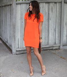 vestido-corto-naranja