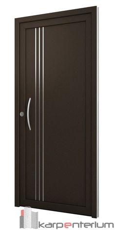 Puerta moderna B15-1 Flush Door Design, Single Door Design, Wooden Front Door Design, Home Door Design, Door Gate Design, Bedroom Door Design, Wooden Front Doors, Interior Door Styles, Door Design Interior
