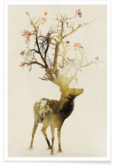 Autumn Art Print by Daniel Taylor Canvas Artwork, Canvas Art Prints, Framed Art Prints, Art And Illustration, Deer Art, Just Dream, Art Mural, Autumn Art, Painting Inspiration