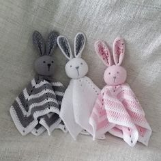 virrkpannan.blogg.se - Figurer/leksaker Crotchet Patterns, Crochet Animal Patterns, Stuffed Animal Patterns, Crochet Animals, Crochet Security Blanket, Baby Blanket Crochet, Crochet Baby, Knit Crochet, Crochet Crafts