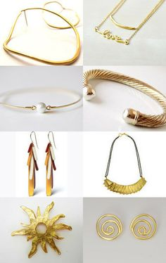 """Etsy treasury """"gold"""" by Matylda Mika Have Some Fun, Craft Items, Small Businesses, In This World, Gold Jewelry, Hobbies, Artisan, Watches, Boutique"""