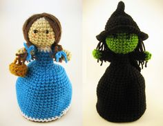 Dorothy and the Wicked Witch topsy-turvy doll - two toys in one!