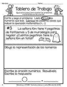 Matemáticas en OCTUBRE: resolviendo problemas en cuentos  primer grado