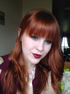 The perfect red hair color. She uses Ion Demi 6RC Dark Coppper Blonde.