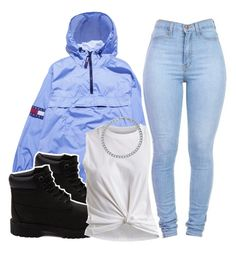 """""""$"""" by iidylan ❤ liked on Polyvore featuring Timberland, VILA and BERRICLE"""
