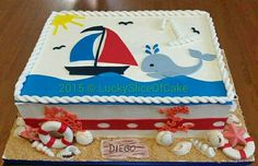nautical baby shower sheet cakes - Google Search