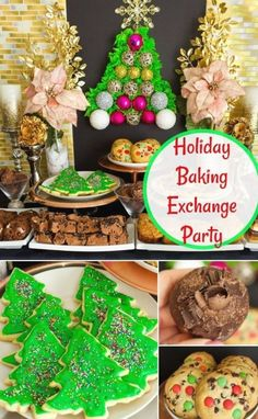 Holiday Baking Exchange Party Ideas Christmas Food Treats, Christmas Desserts, All Things Christmas, Christmas Cookies, Christmas Decorations, Holiday Baking, Christmas Baking, Christmas Diy, Christmas Carol