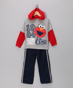 Any little Elmo fan would jump at the chance to reside on Sesame Street, but until the real estate becomes available this playful ensemble is the next best thing! This nifty outfit pairs together perfectly so getting dressed and ready to play takes no time at all.Includes tee and pants100% polyesterMachine wash; tumble ...