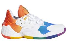 Release Date: adidas Harden Vol. 4 Pride - Dr Wong - Emporium of Tings. James Harden Shoes, Adidas Originals, Adidas Shoes, Sneakers Nike, Baskets, Ankle Heels, Water Shoes, Court Shoes, Types Of Shoes