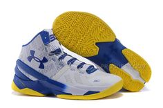 Official UA Curry 2 Mens White Royal Blue Basketball Shoe For Sale Big Boys  Youth Jeunesse Shoes 540b9719777f