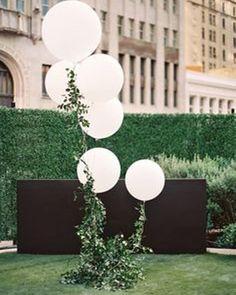 Balloons made more chic with foliage string - perfect for cocktail hour ���� Inspo via @modwedding⠀ ⠀ ⠀ ⠀ #bridalmakeup #instawedding #weddingideas #weddingmagazine #bridalparty #bridesmaids #weddingcake #fairytalewedding #weddinggown #weddingphotographer #brisbanewedding http://gelinshop.com/ipost/1515191706373801664/?code=BUHCtRBB0bA