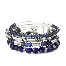 Alex and Ani - Midnight Equinox beaded bangle set of 4 - A celebration of balance and natural beauty - $158