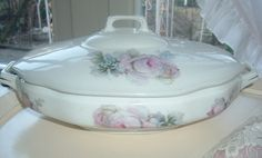 2 covered dishes bowls with lid large tureen door MyVintageRoseShop