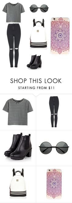 """Untitled #214"" by karenrodriguez-iv on Polyvore featuring WithChic, Topshop and River Island"