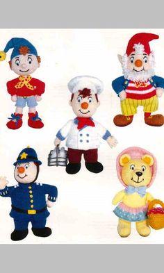Enid Blyton's Noddy: Toys by Alan Dart (Knitting Patterns) Free Applique Patterns, Knitting Patterns Free, Doll Patterns, Knit Patterns, Free Knitting, Baby Knitting, Free Pattern, Knitted Dolls, Crochet Dolls