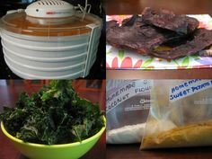 Several recipes and tips including different types of jerky (even salmon,) fruit leathers and even making almond flour!!