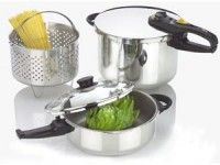 Click Image Above To Purchase: Fagor 5-pc. Duo Pressure Cooker Set