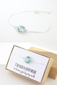Prasiolite Green / Silver Single Round Bracelet by ForTheMaids