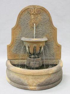 Create a soothing environment with this Al's Garden Art Parisian Wall Fountain